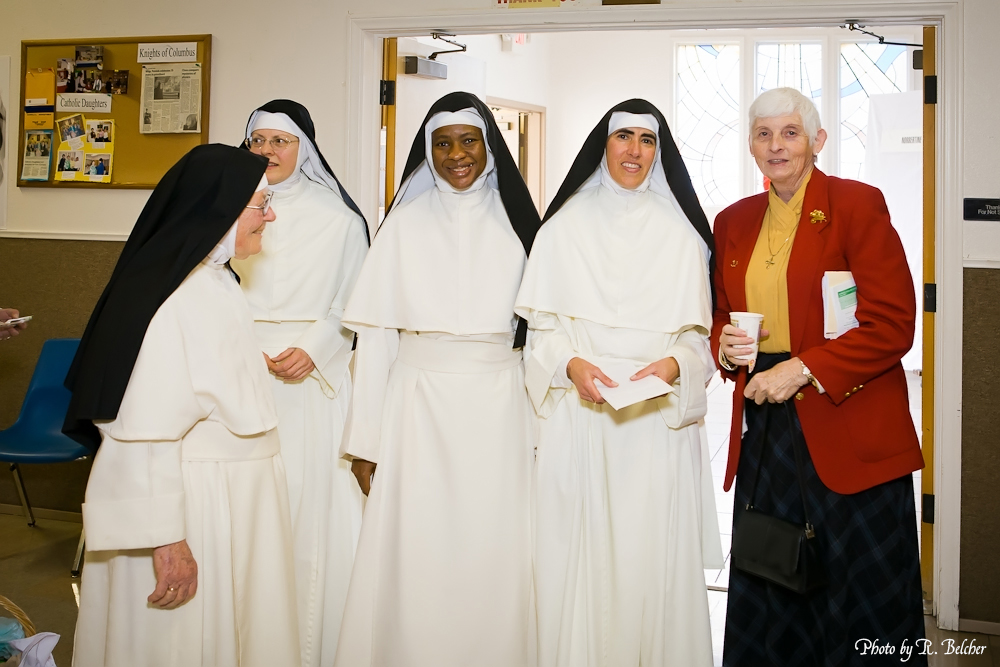 28 Reception - Norbertine Sisters with Vicar for Religious