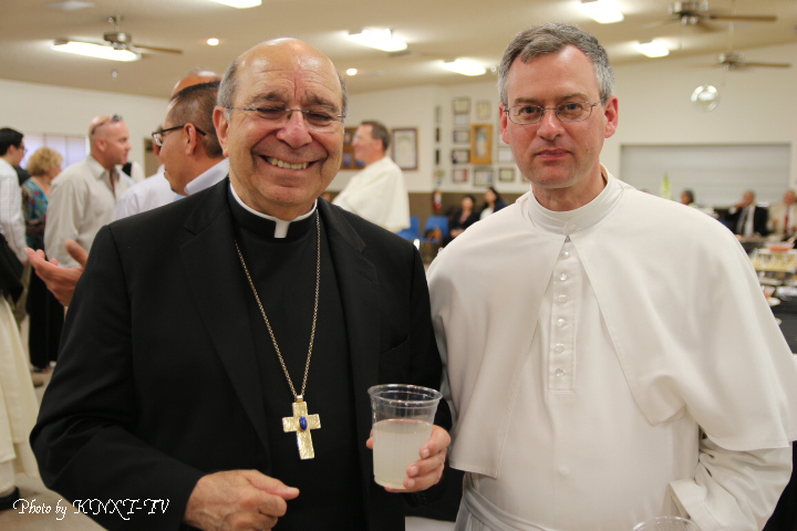 54 Reception - Bishop Armando X. Ochoa and Father Provost Alphonsus Maria Hermes, O. Praem