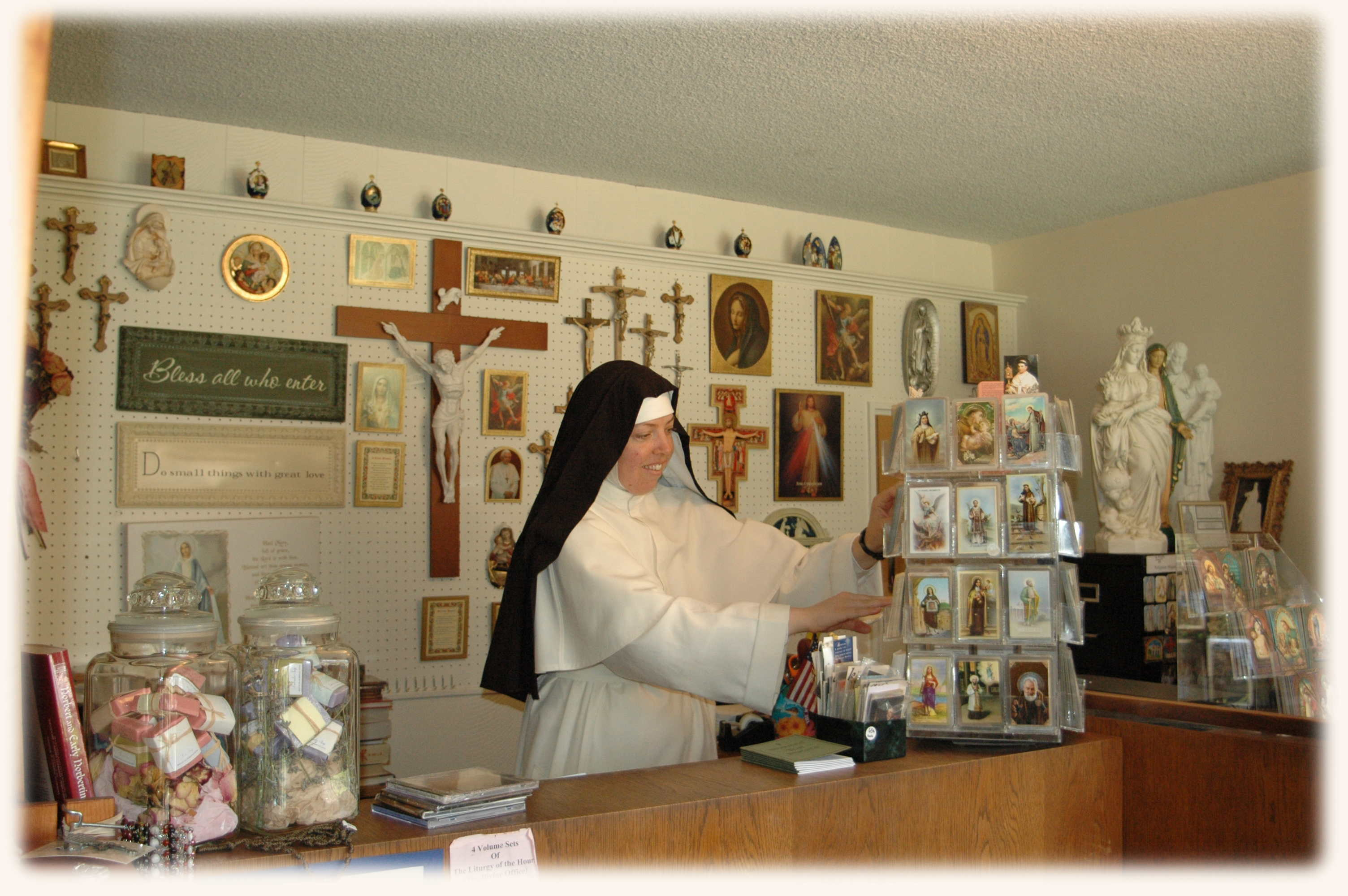 Our Monastery Gift Shop and Bookstore offers a variety of religious books and items, as well as gifts made by the sisters, including Rosaries and other ...