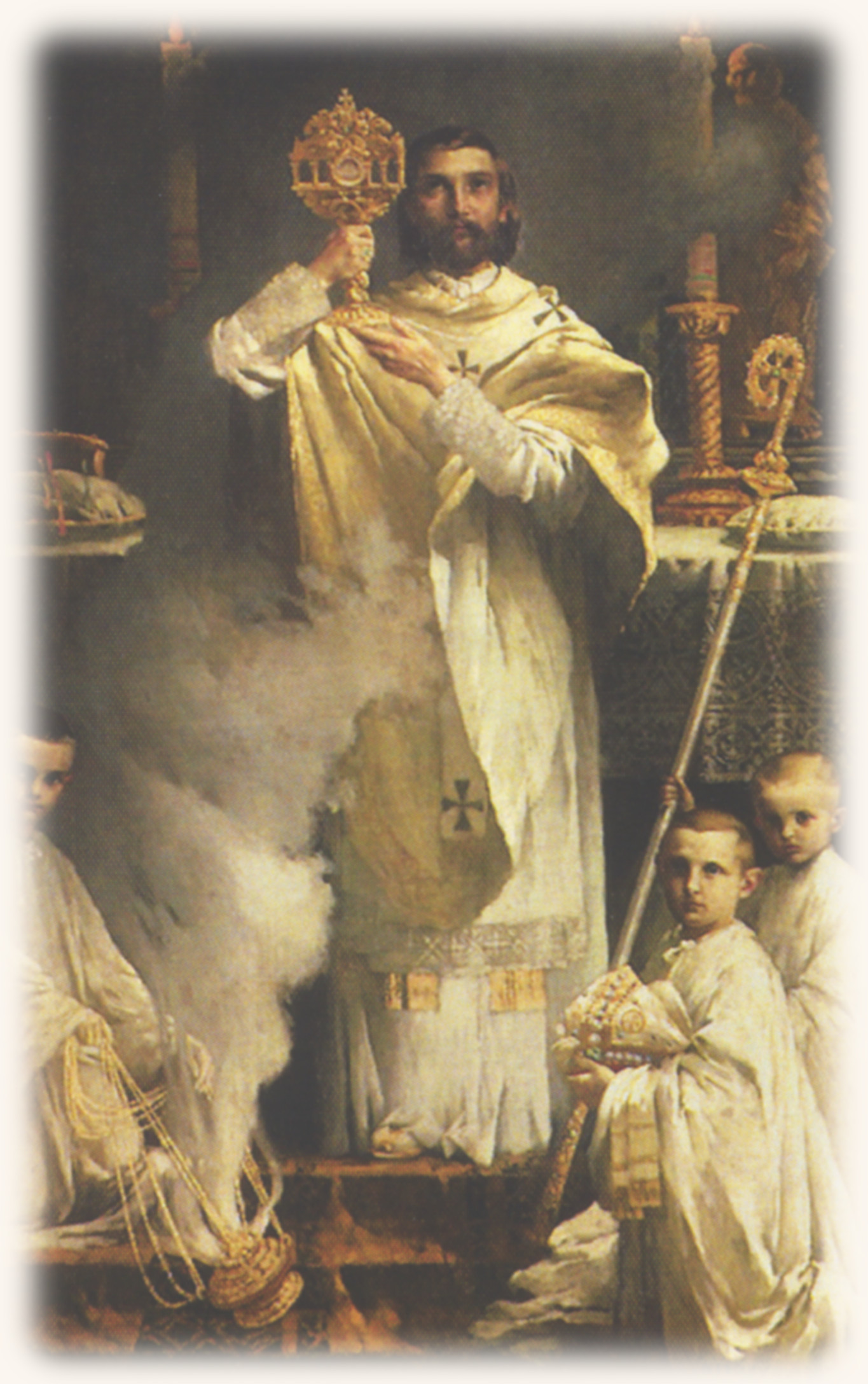 St. Norbert with altar boys